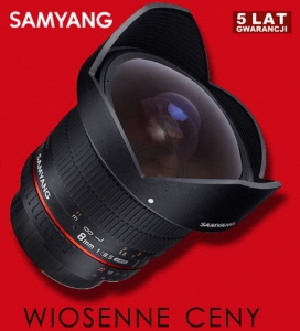 Samyang 8mm f/3.5 Aspherical IF MC Fish-eye CS II do Canona